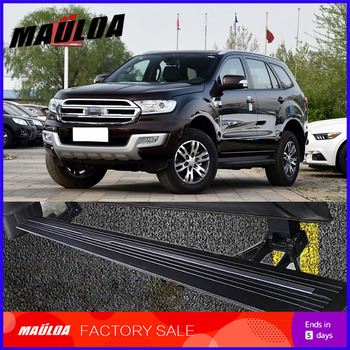 Car Accessories High quality aluminium alloy Automatic scaling Electric pedal side step running board for Everest 2016