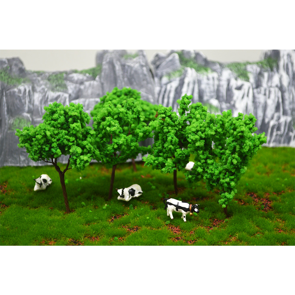 9cm 100pcs Ho Scale Miniature Model Kits Wire Tree Sand Table Layout Building Road Landscape Toy Diorama Plastic