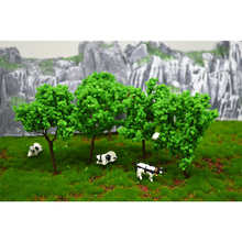 100pcs sand table model building kits ho scale tree miniature wire 9cm
