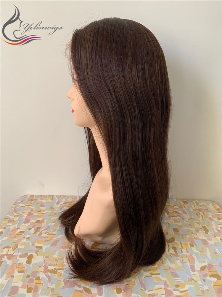 Yelin Wig 100% European Virgin Hair Lace Top Jewish Wig Kosher Wig Lace Top Wigs With Baby Hair
