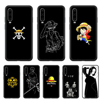 One Piece Anime Simplicity Phone case For Huawei P 30 10 20 40 Lite Smart Z Pro 2019 black Etui 3D back pretty cell cover image