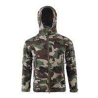 Men Waterproof Windproof Softshell Fleece Windbreaker Coat with Hood for Outdoors QL Sale