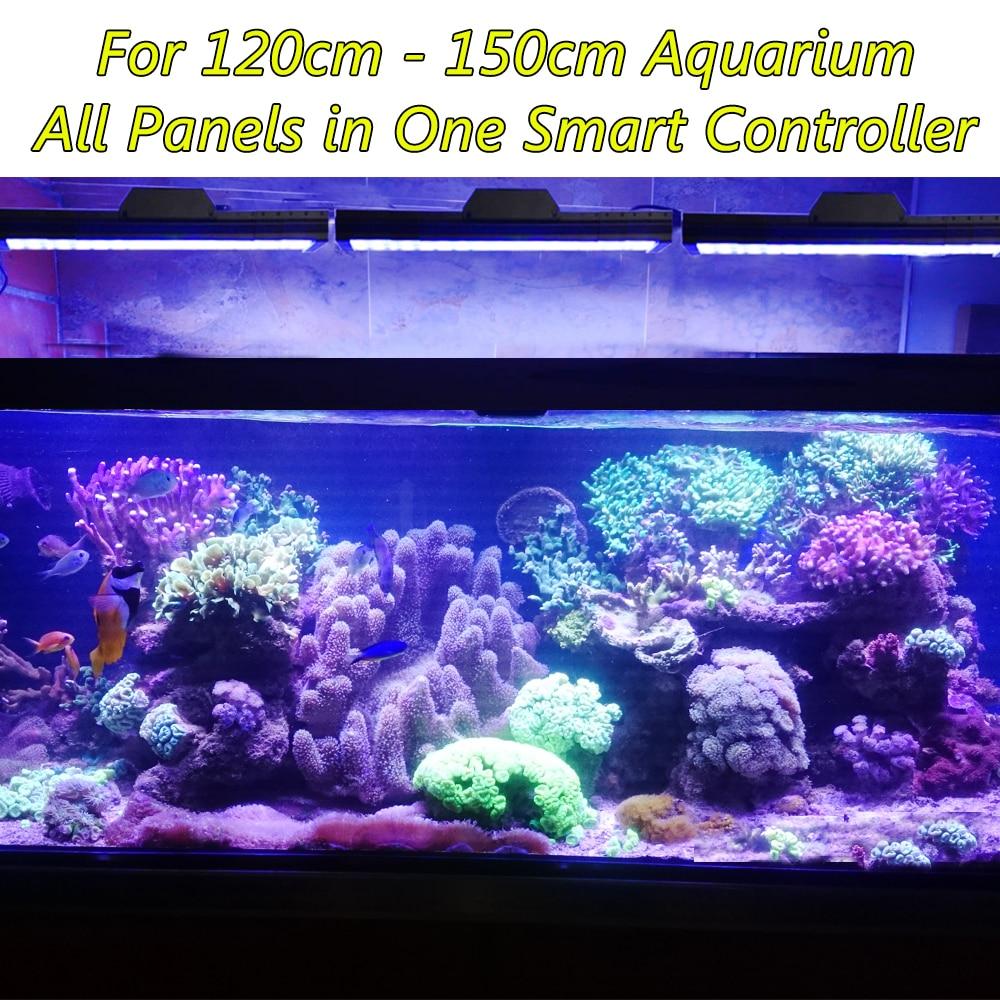 "Купить с кэшбэком 60"" 150cm 5ft Dimmable LED Aquarium Light For Marine Coral Reef Tank Full Spectrum Programmable Fish Aquarium Lamp"