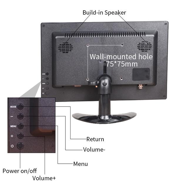 New 12 inch 1920x1080P HD Portable Display with HDMI VGA Interface 4