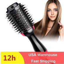 One Step Hair Dryer & Volumizer Hot Air Brush Hot Air Curling/Electric Beard Hair Brush Straightener Tangle Comb Iron Hair Care