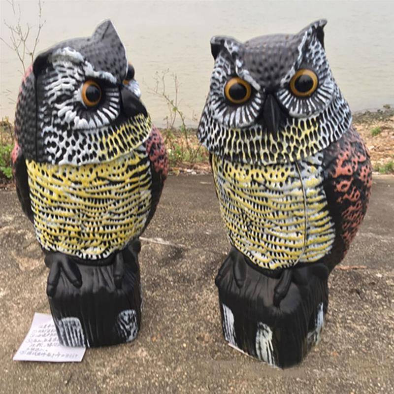 Image 4 - Owl Bird Repellent Hanging Reflective Owl Scarecrow Scares Bird Pigeons Repellent Birds Pest Control Scarecrow Garden Yard MoveRepellents   -