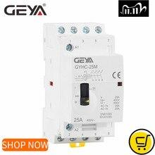 Geya Gyhc 4P 16A 20A 25A 4NO Of 2NO2NC 220V/230V Din Rail Huishoudelijke Ac Modulaire schakelaar 50/60Hz