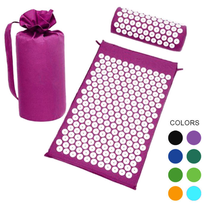 SEC88 Acupressure Massage Mat with Pillow set for Stress Pain and Tension Relief 7