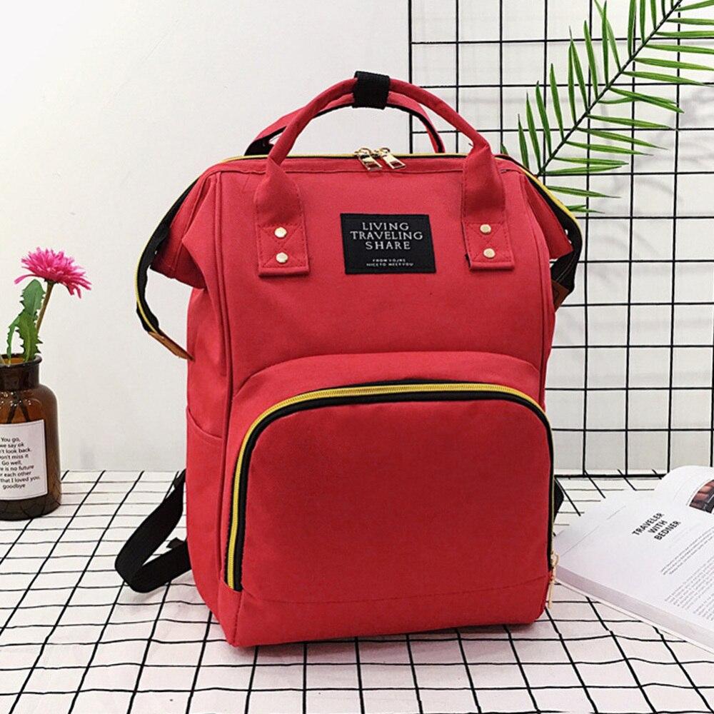 Fashion Large Capacity Nappy Bag Mummy Maternity Nappy Bag Travel Backpack Nursing Bag For Baby Care Women's Fashion Bag J75