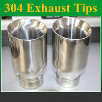 Universal Car Exhaust Muffler Tip Stainless Steel Pipe Chrome Trim Modified Car Tail Throat Liner Pipe