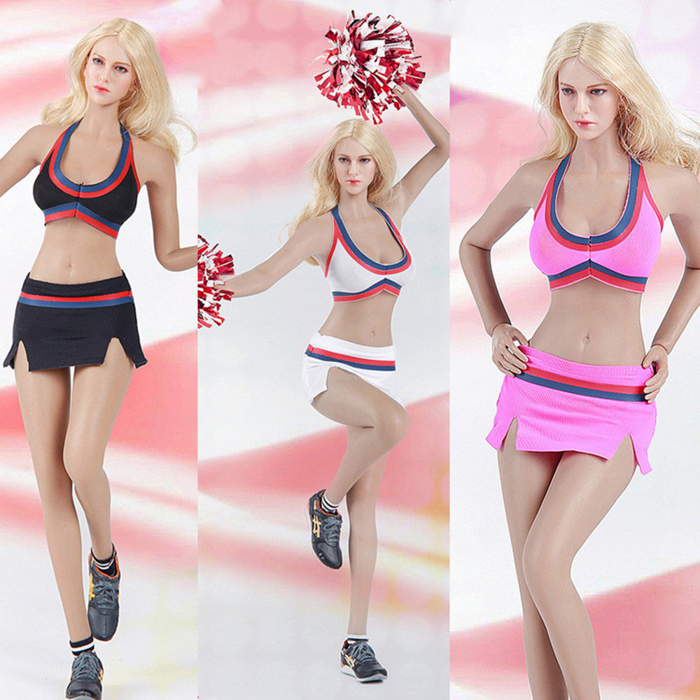 1//6 Fire Girl Toys Female Cheerleader Uniform Suit Clothes Set F12/'/' Phicen Body
