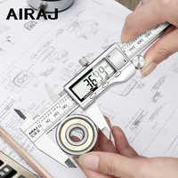 AIRAJ New High-precision Digital Caliper Stainless Steel Long Waterproof Vernier Caliper Level Multi-function Measuring Tool
