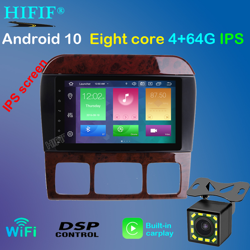 DSP 8 Android 10 4G RAM Radio GPS Car DVD Player for Mercedes Benz S-Class W220 S280 S320 S350 S400 S430 S500 1998-2004 2005 image