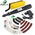 Миниатюрная электрическая дрель, шлифовальная машина с 288 шт., 15000 об/мин, набор шлифовальных инструментов для полировки, набор инструментов ...