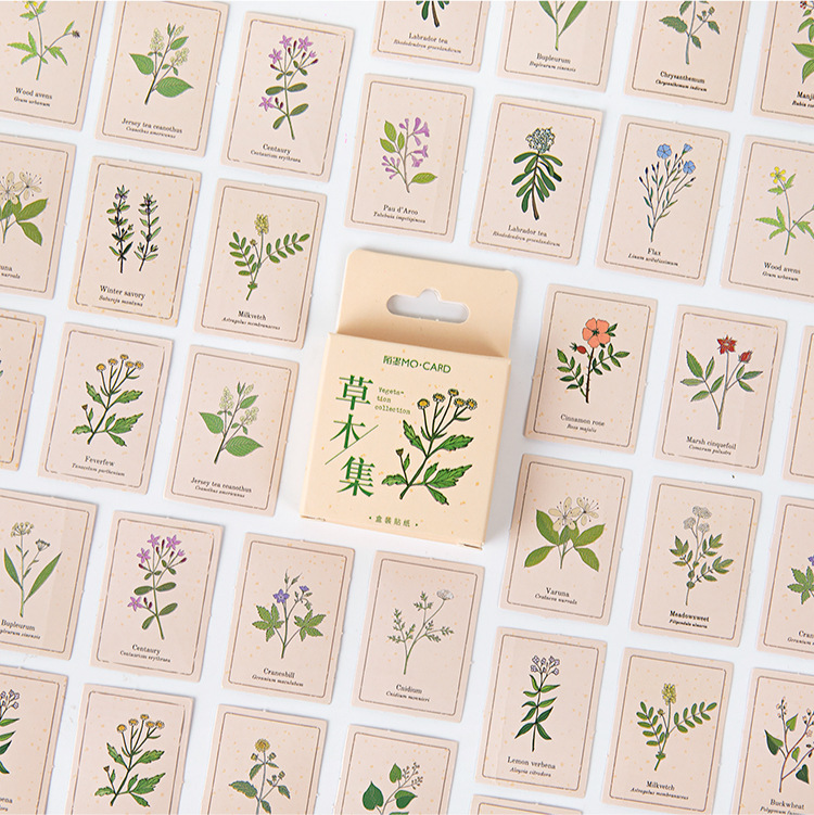 Vegetation Cute Boxed Kawaii Flower Grass Decoration Stickers Planner Scrapbooking Stationery Japanese Diary Stickers