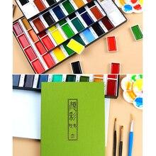 Pigment Kuretake Watercolor-Paint Art-Supplies Drawing Gansai Tambi ZIG Pearl/gem-Colors