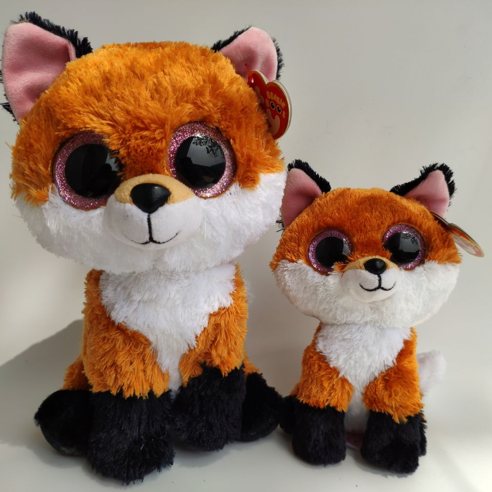 Slick Fox 25CM 15CM Big Eyes Plush Toys Stuffed Animals Christmas Gift Kids Soft Toys Thanks Giving Day Gift Nano Dolls
