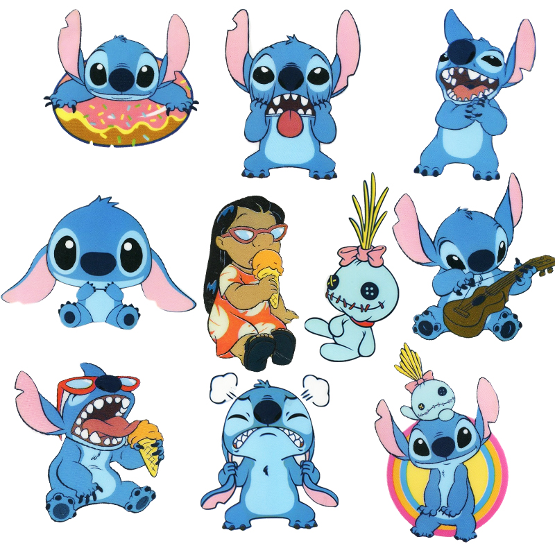10Pcs/1Set Classics  Stitch Cute Cartoon Stickers Scrapbooking Stickers For Luggage Laptop Notebook Car Motorcycle Toy Phone