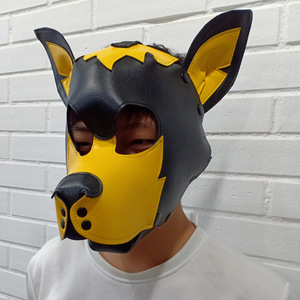 Image 5 - Imitation Leather Sexy Toy Puppy Play Dog Cosplay Mask  Fetish Sex Hood Pet Role Accessories