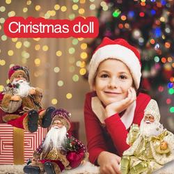 2019 Xmas New-Year Santa Claus Sitting Christmas Big Doll Fabric Kid Toys Gift Christmas Decorations For Home Table Ornament 3