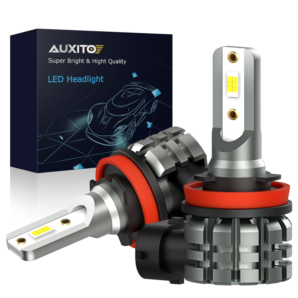 AUXITO 2X H11 LED Fog Light Bulbs H8 H9 H16 JP LED CSP 6000k White/3000k Golden Yellow 12V 24V DRL Car Daytime Running Auto Lamp