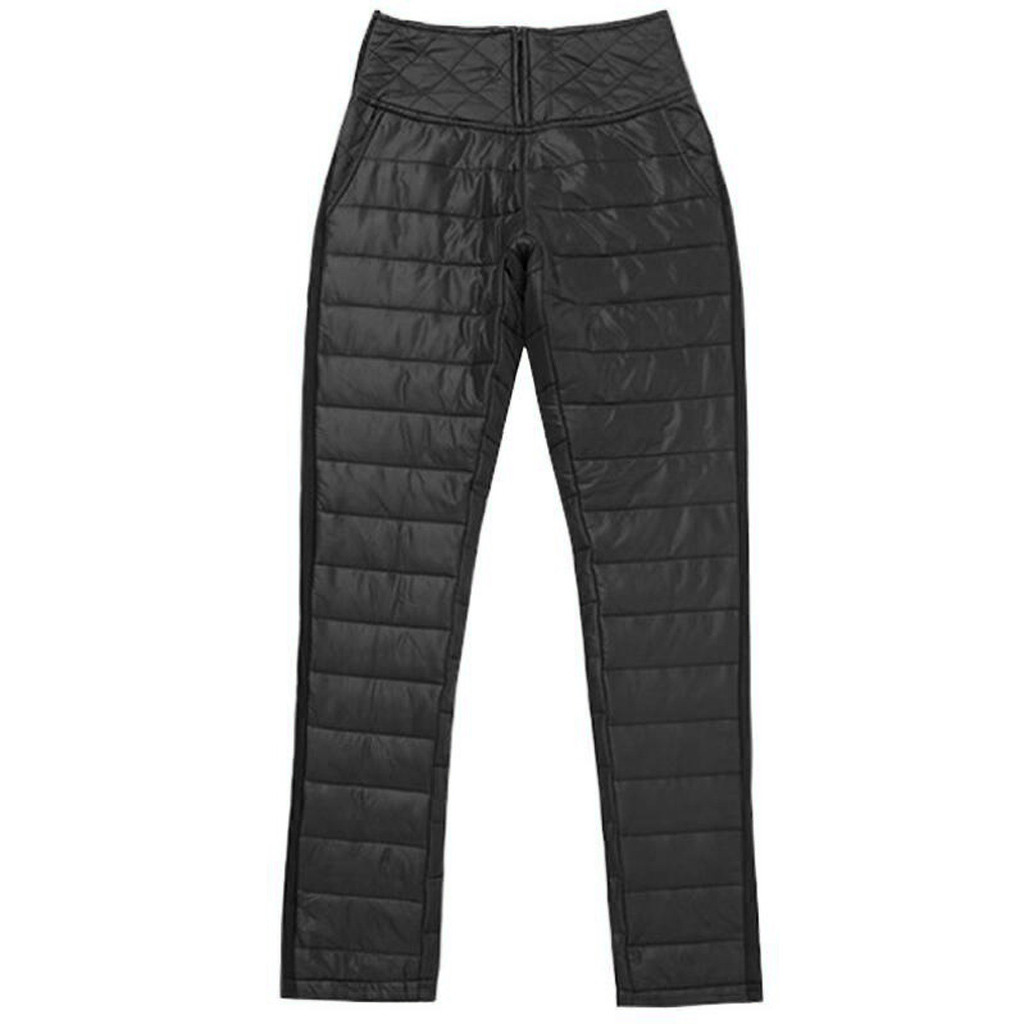 Women Down Pants Plus Size Velvet Trousers Thickening Slim Thermal Female Warm Trousers Legging High Waist Pants Women T