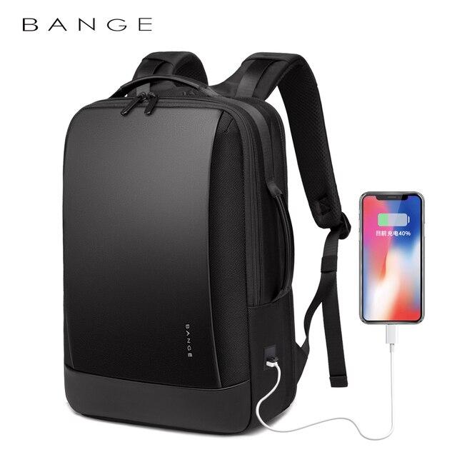 BANGE Laptop Backpack Men 15.6 inch Office Work Men Backpack Business Bag Unisex Black Multifunction Backpack Travel Backpack 1