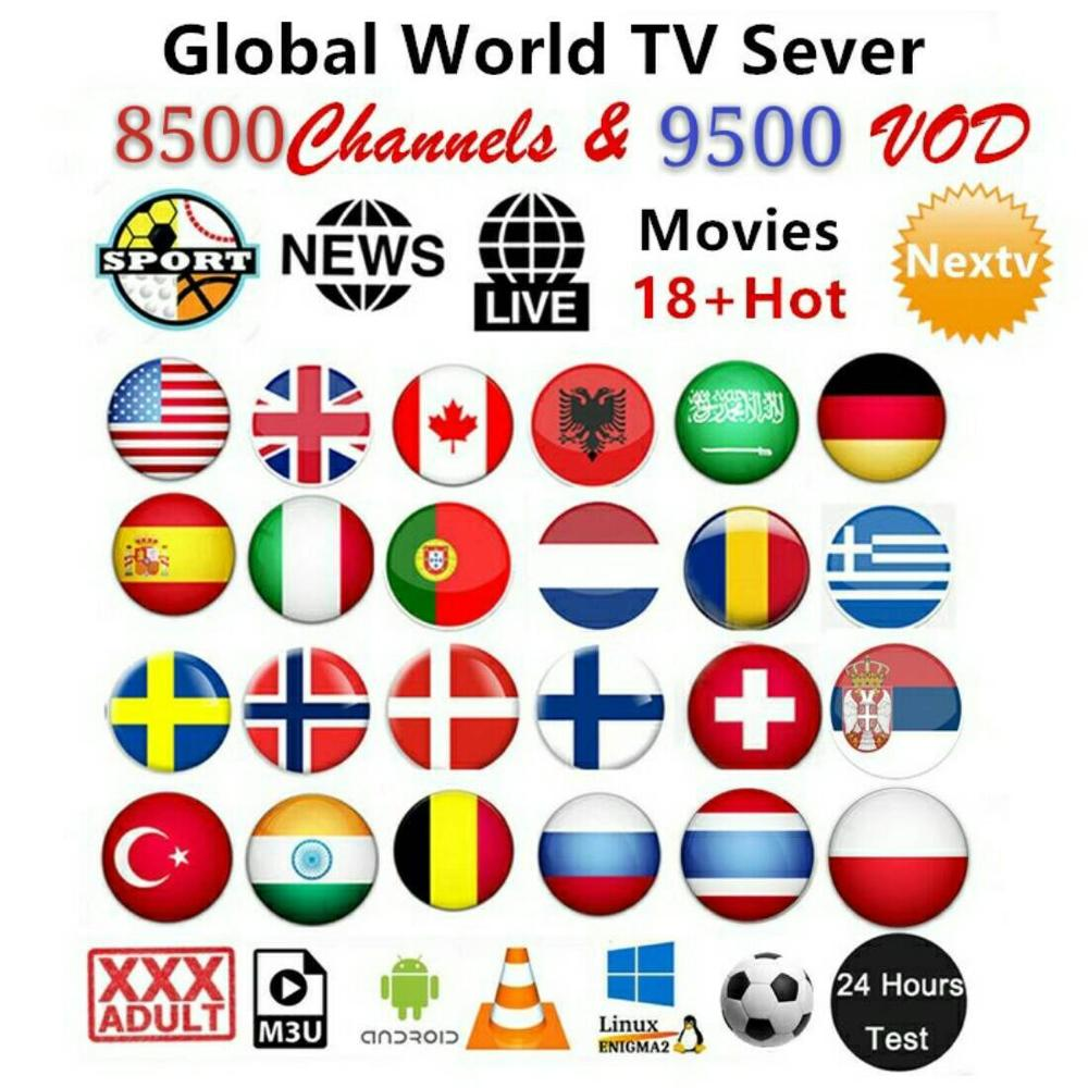 World IPTV Subscription USA United Kingdom Spain France Germany Portugal Italy M3u Android Smart TV Box Enigma2 PC