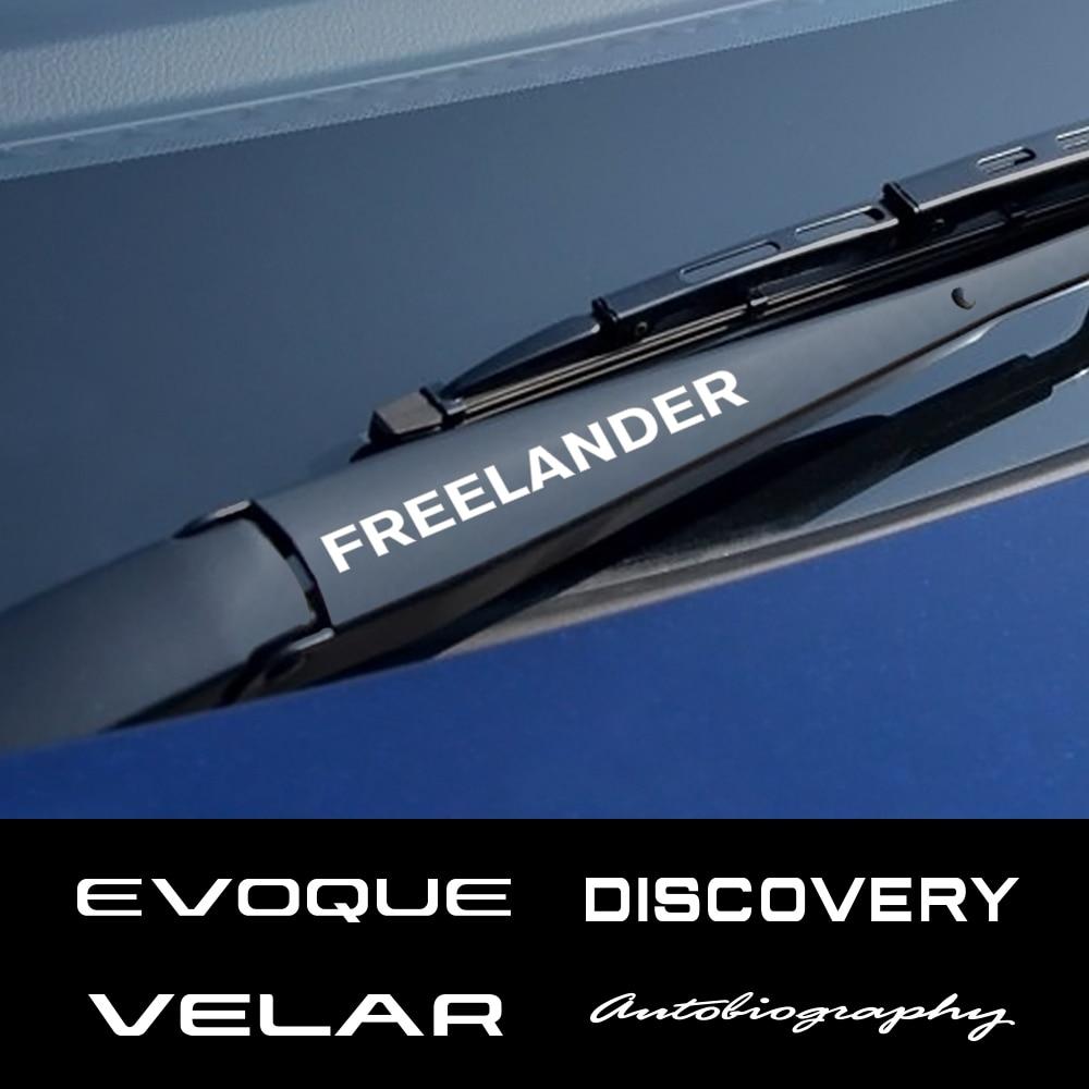 4 Uds. Pegatinas de ventana del coche, limpiaparabrisas de PVC para Land Rover Discovery 3 4 2 Freelander Evoque Velar, autogiografía supercargada SVR