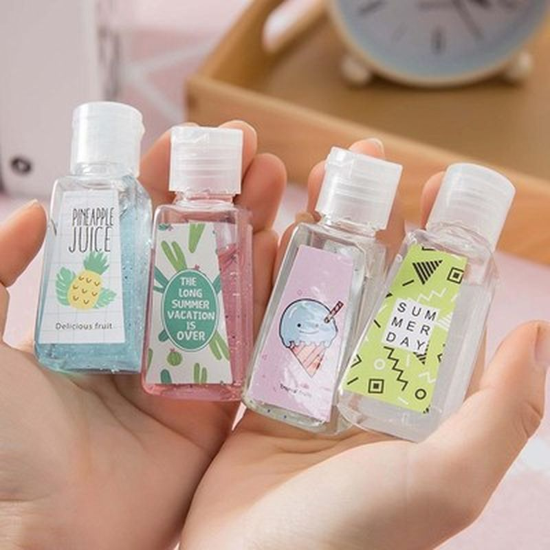 30ml Travel Portable Mini Hand Sanitizer AntiBacteria Moisturizing Disposable Waterless Alcohol Hand Wash Gel Antiseptic Handgel