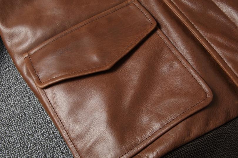 Hf7992c9819314851a9353f15ec13d9f5y Free shipping.Warm Mens classic genuine leather Jacket,quality men's vintage flight jackets.Eur Plus size Casual A2 coat.sales