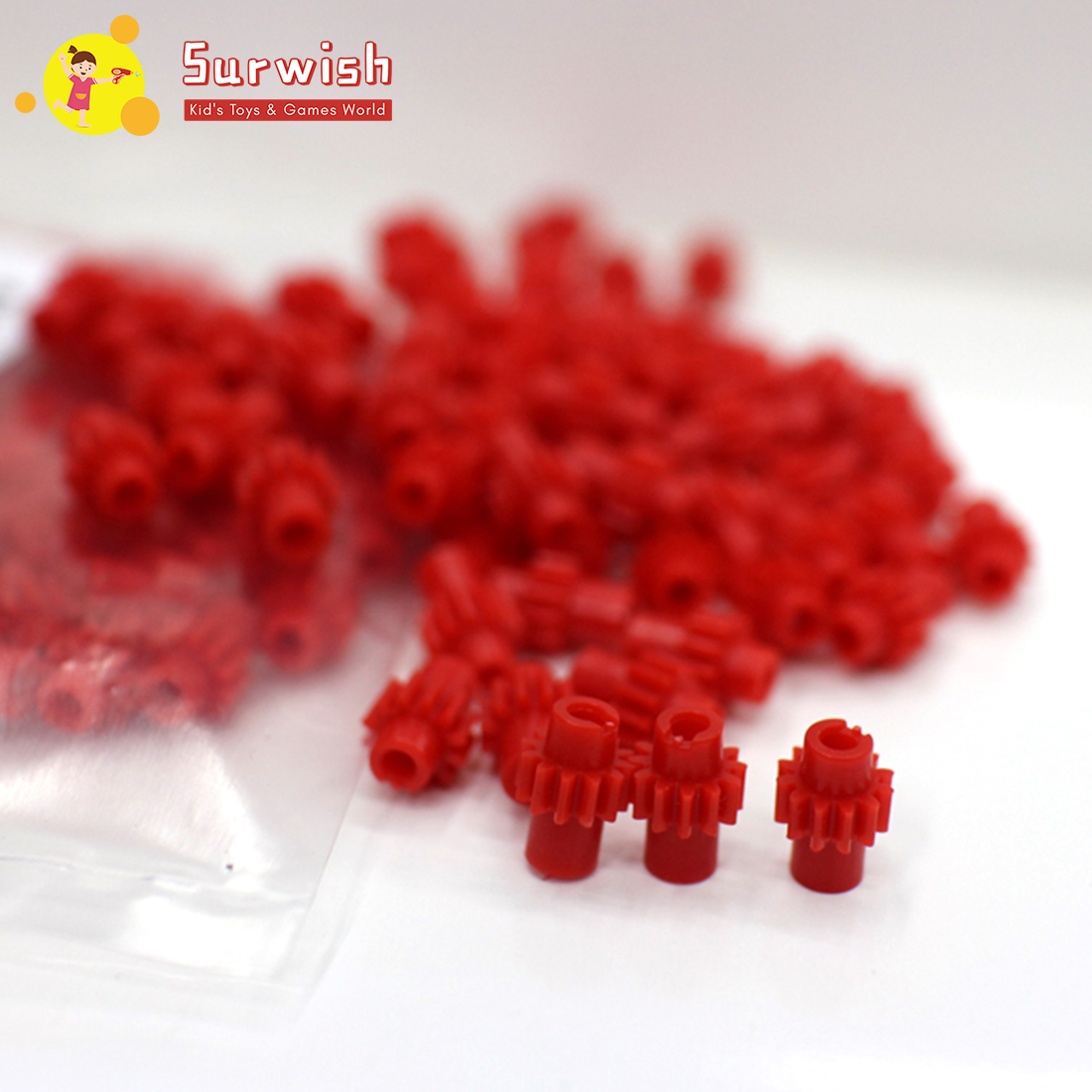 Surwish 10/20/30/50/100pcs 1:87 Electric Train Model Tooth Gear For Ho Scale Model Train Model Building Replace Kits