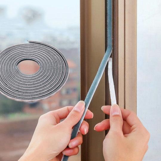 5M Self-adhesive Door And Window Seals Window Windproof Warm Dustproof Pest Control Anti-collision Strip