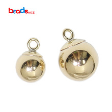 Beadsnice Gold Filled Round Ball Charm for Necklace Making Jewelry Supplies 39796