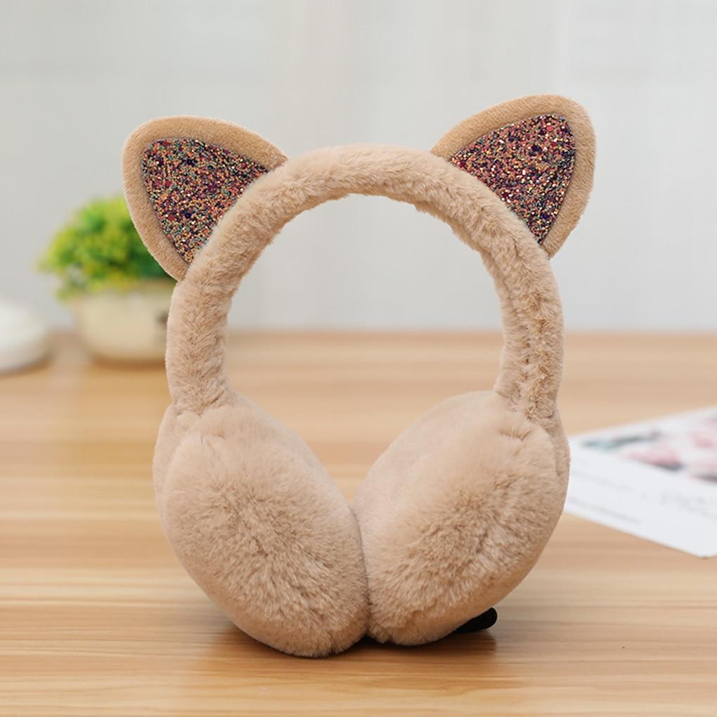 2019 Fashion Women Girls Fur Winter Ear Warmer Earmuffs Cute Cat Ear Muffs Plush Elastic Outdoor Winter Ear Covers Ear Warmers