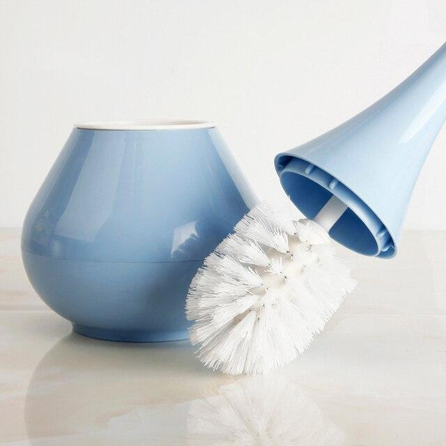 Купить 1 шт творческая синая пластик туалетная щетка круглая дома ванная картинки