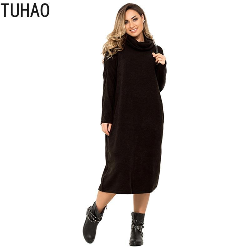 Женские офисные комбинезоны TUHAO, повседневные Элегантные платья большого размера 6XL 5XL 4XL на осень и зиму, LZ05|Платья|   | АлиЭкспресс