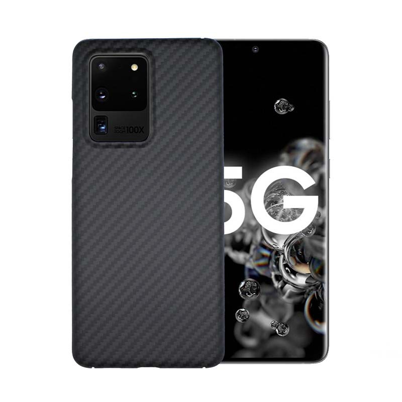Kevlar Carbon Fiber <font><b>Case</b></font> For <font><b>Samsung</b></font> Galaxy Note10 Note10Pro S10 S10Plus S9Plus S8Plus S8 <font><b>Note8</b></font> <font><b>Case</b></font> Free Tempered Glass KS0570 image