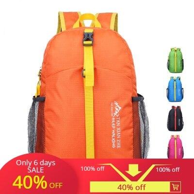 2018 nouvelle lumière Portable avec escalade sac à dos pliant loisirs de plein air pliant sac à dos