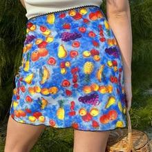 Summer Women High Waist Skirts Short Mini Boho Beach Skirts Thin Breathable Dress Comfortable Floral Skirts Polyester Clothes