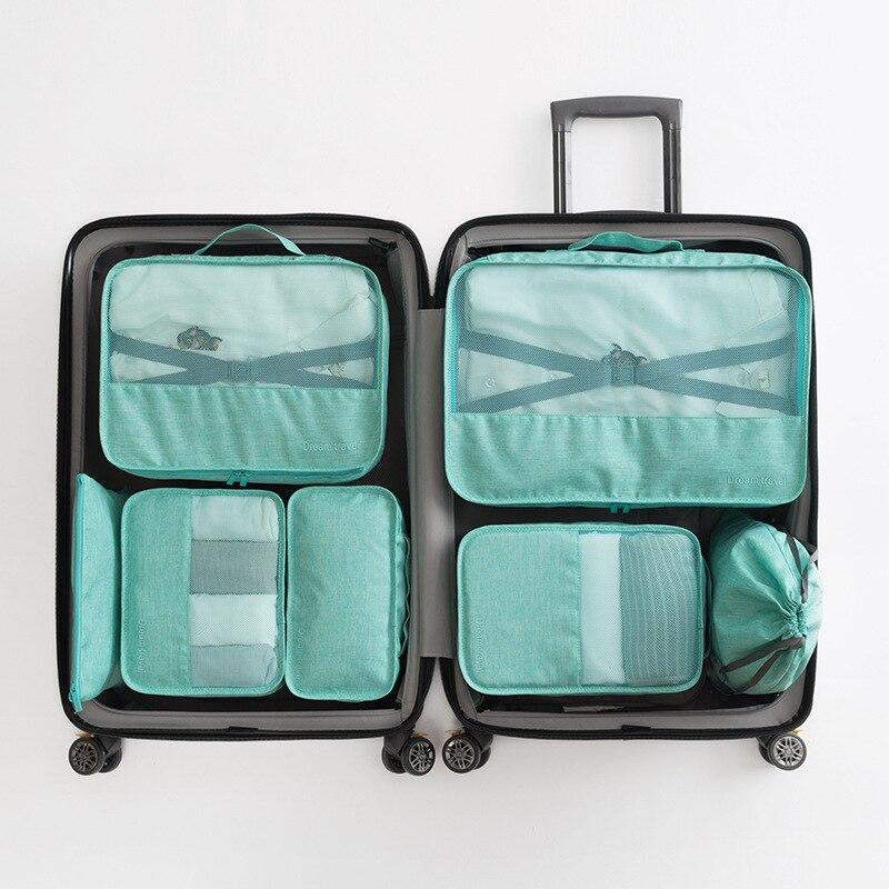 Travel Bra Shoes Storage Bag  Luggage Underwear Finishing Waterproof Bag Travel Clothes Storage Bag 7 Sets