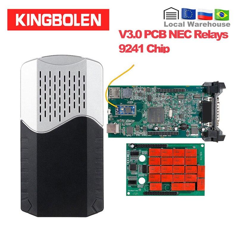 CDP TCS VCI 2016 R0 keygen Dual Green Board V3.0 9241A Chip Multidiag pro+ OBDII OBD2 Diagnostic Tool car/trcuks Auto Scanner
