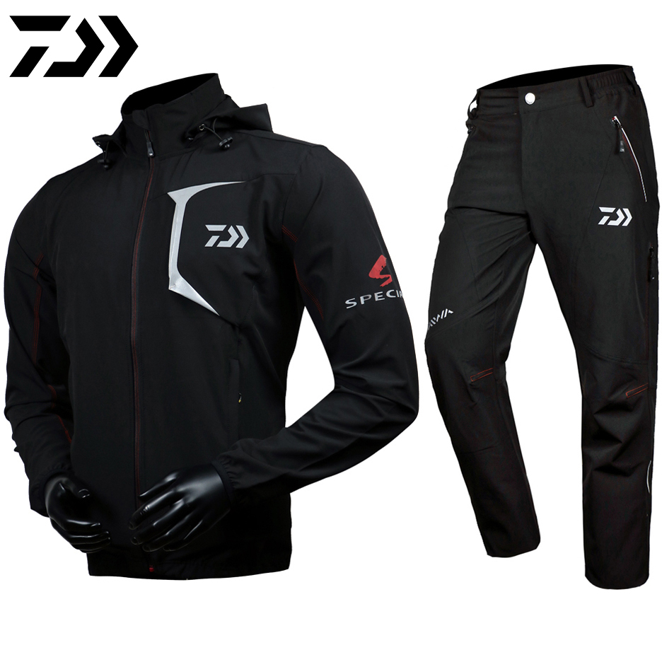 Daiwa Special Fishing Waterproof Sets Jackets Pants Sports Outdoor Fishing Hiking Sunproof Coat Breathable Camping Suits Men