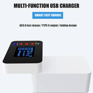 Power-Adapter Wireless Charger-Station-Hub Desktop-Strip Qi Type-C Quick-Charge Fast-Charging4