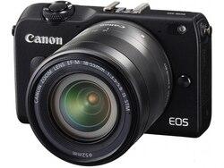 كاميرا كانون الرقمية المدمجة غير العاكسة المستخدمة EOS M2 18MP واي فاي بطاقة ذاكرة 8GB مختبرة بالكامل