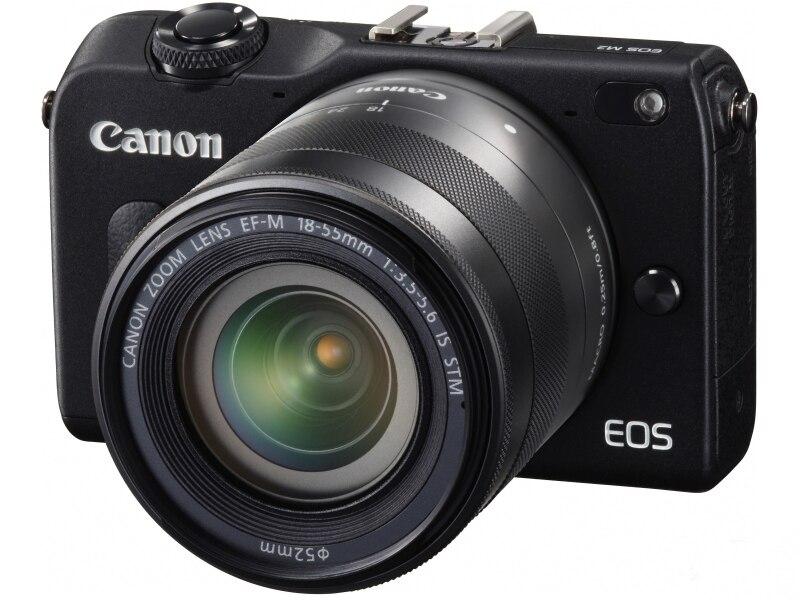 USADO CANON Digital Compacta Não-reflex CÂMERA Mirrorless EOS M2 8 18MP WI-FI Cartão de Memória GB Totalmente Testado