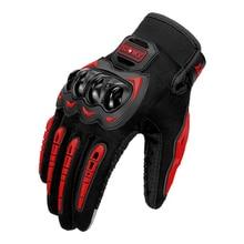 Letnie rękawice motocyklowe męskie ekran dotykowy Motocross motocykl ochronny sprzęt pełne rękawiczki Moto rękawice wyścigowe do jazdy na czerwono