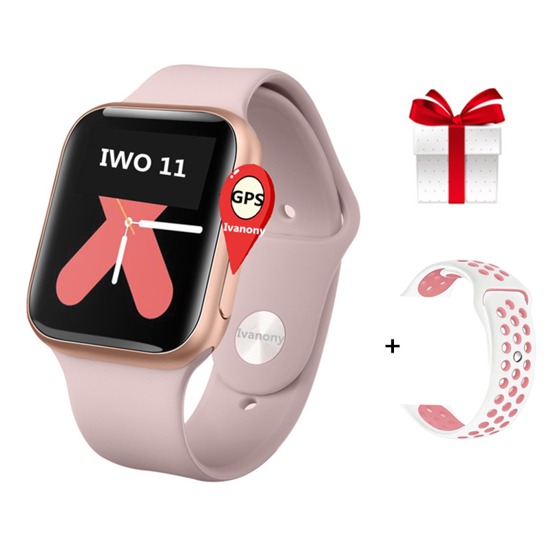 IWO 11 Smart Watch Man Bluetooth GPS Smartwatch 1:1 44mm Case for Apple iOS Android Heart Rate Monitor Smart Clock VS IWO 8 IWO9 image