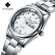 Женские часы браслет wwoor модные брендовые Роскошные Серебристые