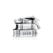цена на Original 925 Sterling Silver Bead Cap, Book & Scroll Charm Beads Fit Pandora Bracelet & Bangle for Women DIY Fine Jewelry Kralen